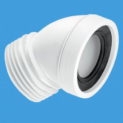 McAlpine Toilet Pan Connector 45 Degree Angled